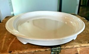 Vtg Corning Ware Pyroceram #4784 Microwave Oval Grilling Baking Dish Plate Tray