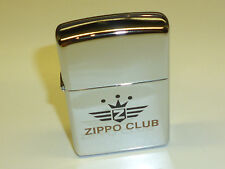 "VINTAGE ZIPPO LIGHTER ""ZIPPO CLUB"" - HIGH POLISH CHROME-ACCENDINO - 1995-NICE"
