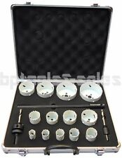 "18pc Bi-Metal Hole Saw Kit 3/4 - 3-1/4"" Hole Saw Drilling Set w/ Aluminum Case"