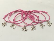 6 UNICORN FRIENDSHIP BRACELETS PARTY BAG FILLER HEN PARTY WEDDING FAVOURS