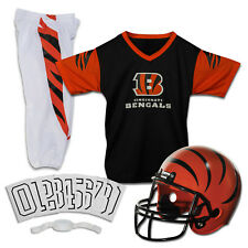Kids Cincinnati Bengals Helmet Nfl Football Youth Sports Uniform Set Medium