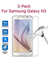 3-PACK For Samsung Galaxy Note 3 Tempered Glass Screen Protector Phone Cover