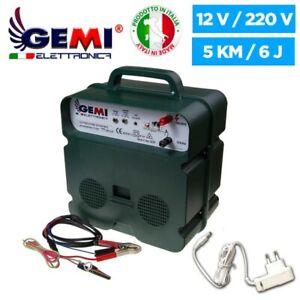 Electric Fence Energiser 12V Battery/220V Powered 5 KM for electric fences Gemi