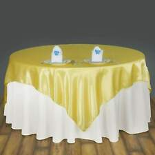 """72""""x72"""" Square Satin Overlay Wedding Party Banquet Decoration 20+ Colors!"""