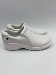 Nurse Mates Dove White Slip On Shoes Size 7.5 W , 590