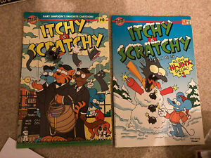 Itchy and Scratchy 0 and 1 both NM