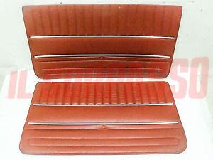 Door Panels Front Fiat 124 Sedan Red Original