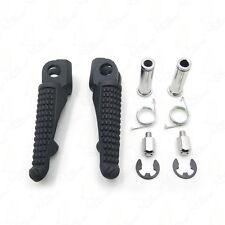 For Kawasaki  NINJA ZX-6R ZX-9R ZX-10R   ZX-12R Black Front Foot Pegs Footrest