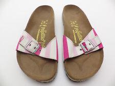 Birkenstock Papillio EU 38 245 L 7 - 7.5 Narrow Madrid Pink and White stripes