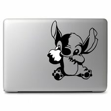 Disney Stitch Eat Apple for Apple Macbook Air / Pro Laptop Vinyl Decal Sticker