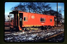1950's New York Central System Caboose, Original Kodachrome Slide c1b