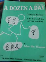 A Dozen a Day Book 1 for Piano by Edna Mae Burnam Willis Music 1950 Euc