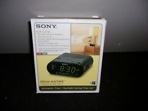 SONY ICF-C218 FM/AM CLOCK RADIO NEW IN BOX