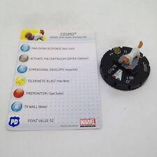 Heroclix Galactic Guardians set Cosmo #039 Super Rare figure w/card!