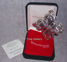 2006 Reed Barton 36th Annual Sterling Silver Christmas Cross Ornament Pendant