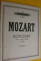 MOZART, Konzert A-Dur, K.V. 488, Edwin Fischer, für zwei Klaviere