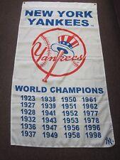 New York Yankees World Champions Banner / Flag ~ 1923 through 1998