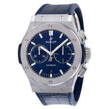 Hublot Classic Fusion Automatic Blue Sunray Dial Titanium Men's Watch