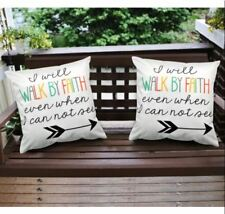 16 x 16 Inches Decorative Square Throw Pillow Case (Bible Quotes) Set of 2