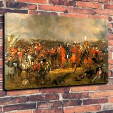 """La batalla de Waterloo Pared Arte Caja impresa cuadro lienzo A1.30""""x20"""" 30 mm de profundidad"""