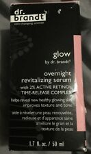 DR BRANDT Glow Overnight Revitalizing Serum 1.7oz/ 50ml *Full Size* NEW Boxed
