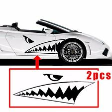 130cm Full Size Shark Mouth Tooth Flying Tiger Die-Cut Vinyl Decal Sticker Car