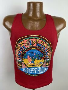 Vintage 90s Just Add Water Tank Top Youth Medium Red Instant Laguna Surfing USA