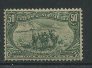 1898 US Stamp #291 50c Mint VF Disturbed OG Catalogue Value $925 Certified