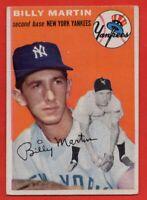1954 Topps #13 Billy Martin VG-VGEX+ WRINKLE HOF New York Yankees FREE SHIP