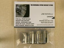 REUSABLE MOTORCYCLE SPOKE WHEEL WEIGHT BASIC RIMLOCK KIT NICKEL PLATE USA SELLER