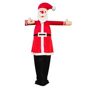 3,5m Winkender Weihnachtsmann Nikolaus Airdancer Skydancer Werbung Gebläse + LED