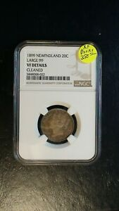 1899 NEWFOUNDLAND Twenty Cents NGC VF LARGE 99 20C Coin PRICED TO SELL!
