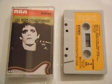 LOU REED TRANSFORMER CASSETTE TAPE 1972 PAPER LABEL VELVET UNDERGROUND RCA UK