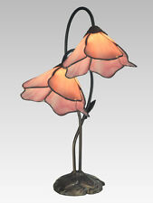 2 PINK LILY Table Accent Lamp Antique Bronze Lighting by Dale Tiffany - 2 LIGHTS
