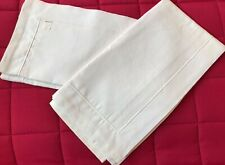 More details for pair of vintage  metis linen square (oxford style) pillowcases. 26x25