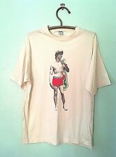 Moschino Mare, Italy Men's Graphic T - Shirt  Adonis Off White 100 % Cotton  L
