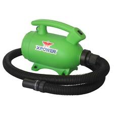 XPOWER B-55 Portable Home Pet Grooming Dog Cat Force Hair Dryer & Vacuum- Green