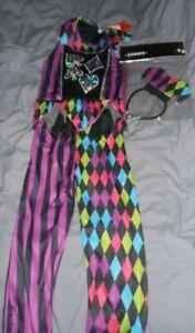 GIRLS TU COLOURFUL JESTER GIRL HALLOWEEN FANCY DRESS COSTUME AGE 7-8 YEARS BNWT