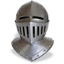 Medieval Knight Antique Vintage European Closed Armor Halloween Helmet Replica