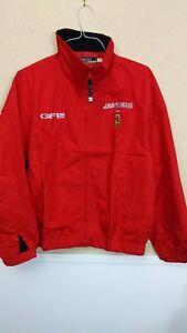 Ferrari JMB GIESSE Team Pit Crew GFL 23 Red Windbreaker Jacket Large NOS