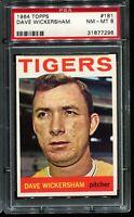 1964 Topps Baseball #181 DAVE WICKERSHAM Detroit Tigers PSA 8 NM-MT