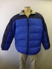 Mens Outdoor Exchange blue zip up Down Puffer thick winter Coat jacket sz Large