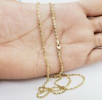 """10K Solid Yellow Gold Necklace Gold Rope Chain 16"""" 18"""" 20"""" 22"""" 24"""" 26"""" 28"""" 30"""""""