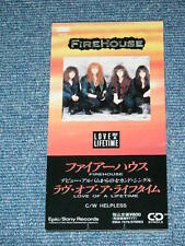 "FIREHOUSE Japan 1990 NM Tall 3"" inch CD Single LOVE OF A LIFETIME"