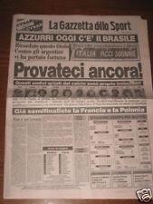 GAZZETTA DELLO SPORT 05/07/1982 CAMPIONATO DEL MONDO