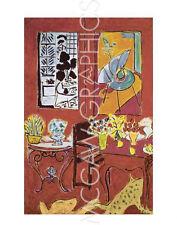 "MATISSE HENRI - LARGE RED INTERIOR, 1948 - ART PRINT POSTER 14"" X 11"" (1051)"