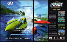 VR SPORTS: POWERBOAT RACING__Orig. 1998 Trade print AD game promo__PlayStation