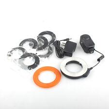 W48 LED Macro Ring Lamp Light 6 Lens Lamp For Nikon Canon All SLR Camera W 48