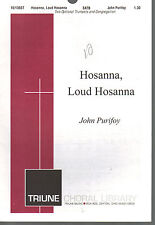 Hosanna Loud Hosanna Purifoy/Therfall/Theodolph of Orleans Sheet Music 1994 SATB