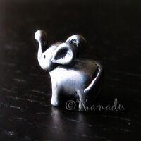 Lucky Elephants With Trunks Up European Charm Bead For European Charm Bracelets